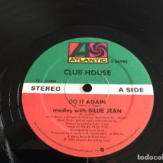 "Discos de vinilo: CLUB HOUSE ‎– DO IT AGAIN (MEDLEY WITH BILLIE JEAN) - 12"" USA. Lote 244559915"