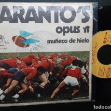 Discos de vinilo: TARANTO'S MUÑECO DE HIELO, OPUS PI. Lote 244561605