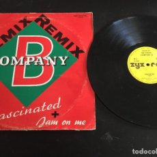 "Discos de vinilo: COMPANY B ‎– FASCINATED (REMIX) / JAM ON ME (REMIX) - 12"" ALEMANIA. Lote 244562315"