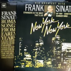Discos de vinilo: 3 LP FRANK SINATRA LO MEJOR ROMANTIC SONGS HIS GREATEST HITS. Lote 244573050