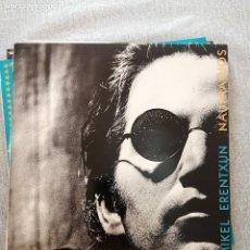 """Discos de vinilo: LP MIKEL ERENTXUN DISCO """"NAUFRAGIOS """", AÑO 1992.. Lote 244574015"""