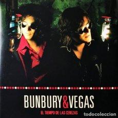 Discos de vinilo: BUNBURY & VEGAS – EL TIEMPO DE LAS CEREZAS -2 LP + 2 CD-. Lote 244581180
