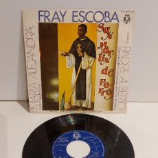 Discos de vinilo: MARÍA ALEJANDRA CON LOS GEMELOS / FRAY ESCOBA / SINGLE - BCD-1972 / MBC. ***/***. Lote 244581300