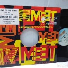Discos de vinilo: MAXI SINGLE-MONICA DE LUXE-SUBMISSION- EN FUNDA ORIGINAL 1991. Lote 244581350