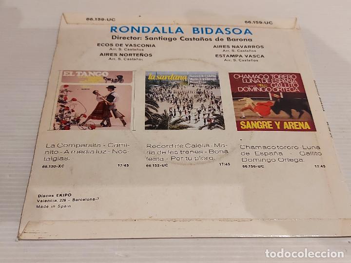 Discos de vinilo: RONDALLA BIDASOA / ECOS DE VASCONIA / EP - EKIPO-1966 / MBC. ***/*** - Foto 2 - 244586105