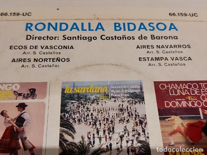 Discos de vinilo: RONDALLA BIDASOA / ECOS DE VASCONIA / EP - EKIPO-1966 / MBC. ***/*** - Foto 3 - 244586105