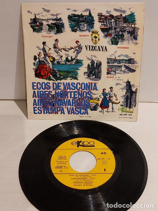 RONDALLA BIDASOA / ECOS DE VASCONIA / EP - EKIPO-1966 / MBC. ***/*** (Música - Discos de Vinilo - EPs - Country y Folk)