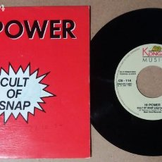Discos de vinil: HI-POWER / CULT OF SNAP / SINGLE 7 PULGADAS. Lote 244586590
