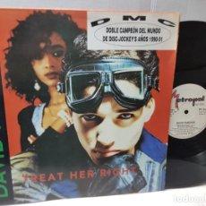 Discos de vinilo: MAXI SINGLE-DAVID FASCHER-TREAT HER RIGHT- EN FUNDA ORIGINAL 1992. Lote 244588605