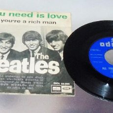 Discos de vinilo: THE BEATLES ---ALL YOU NEED IS LOVE / BABY YOU´RE A RICH MAN ---AÑO 1967 VINILO MINT -- FUNDA VG+. Lote 182021691