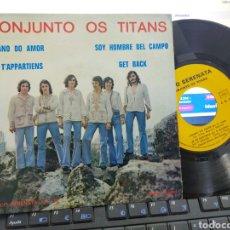 Discos de vinilo: CONJUNTO OS TITANS EP CIGANO DO AMOR + 3 FRANCIA. Lote 244590130