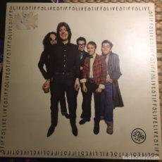 Discos de vinilo: STIFFS RECORDS LP LIVE STIFF LIVE DISCO EXC, PORTADA BIEN PERO RESTO PEGATINA. Lote 244591965