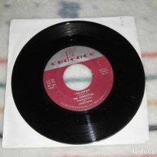 Discos de vinilo: DISCO THE CHORDETTES - LOLLIPOP (CADENCE, 1958) EDCICIÓN ORIGINAL AMERICANA. MUY BUENO. Lote 244596320