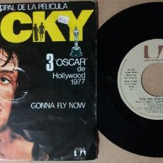 Discos de vinilo: GONNA FLY NOW / TEMA PRINCIPAL DE ROCKY / SINGLE 7 PULGADAS. Lote 244610390