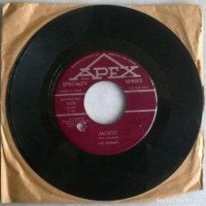 Discos de vinilo: THE CHAMPS. JALISCO/ SAN JUAN. APEX, CANADA 1963 SINGLE. Lote 244611180