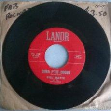 Discos de vinilo: BILL MATTE. PARLEZ-VOUS L'FRANCAIS/ CHER P'TIT COEUR. LANOR, USA 1961 SINGLE. Lote 244611890