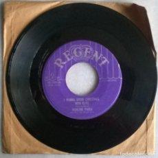 Discos de vinilo: MARLENE PAULA. I WANNA SPEND CHRISTMAS WITH ELVIS/ ONCE MORE IT'S XMAS. REGENT, USA 1956 SINGLE. Lote 244613720