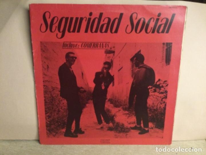 SEGURIDAD SOCIAL - NO ES FÁCIL SER DIOS - ( COMERRANAS ) MAXI DISCO VINILO (Música - Discos de Vinilo - Maxi Singles - Punk - Hard Core)