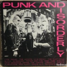 Discos de vinilo: PUNK AND DISORDERLY - - LP DISCO VINILO 1982. Lote 244619595