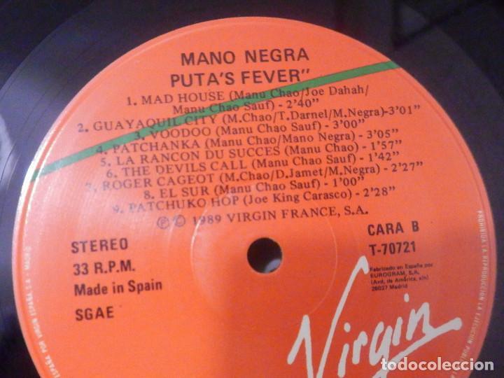 Discos de vinilo: Vinilo Long Play - Mano Negra - Puta´s Fever - Virgin 1989 - Impecable - Foto 4 - 244629575