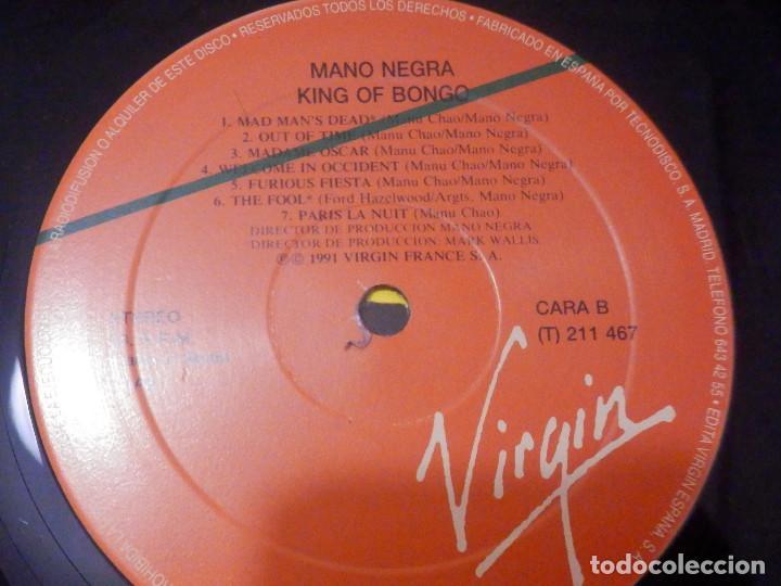 Discos de vinilo: Vinilo Long Play -L.P. - Mano Negra - King of Bongo - Virgin 1991 - Impecable - Foto 4 - 244629665