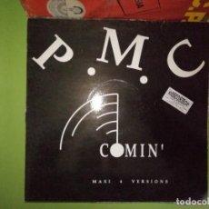 Discos de vinilo: DISCO P.M.C. COMIN'. MAXI 4 VERSION. BEST MIX / M93 MIX / RIO MIX / PRAYER MIX. Lote 244634735