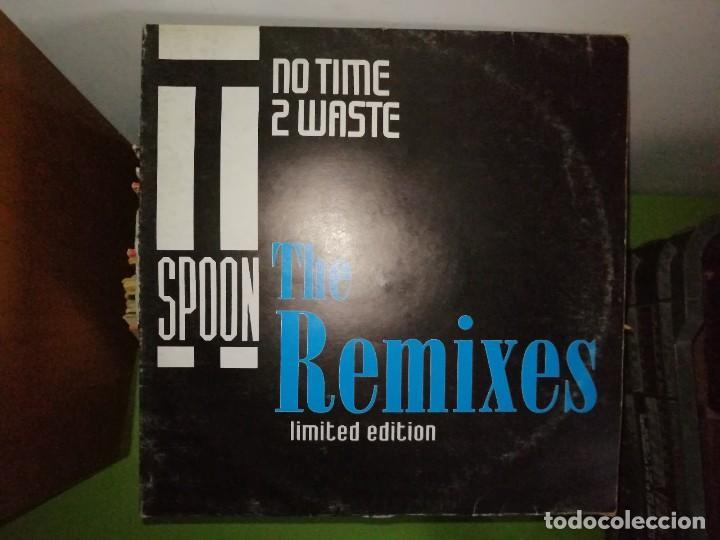 DISCO T-SPOON. NOT TIME 2 WASTE. THE REMIXES. LIMITED EDITION (Música - Discos de Vinilo - Maxi Singles - Disco y Dance)