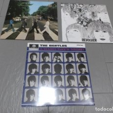 Discos de vinilo: THE BEATLES ABBEY ROAD--THE BEATLES REVOLVE -THE BEATLES A HARD DAY'S NIGHT- 3 LPS--2017 -AGOSTINI. Lote 244638135