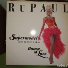 Discos de vinilo: DISCO RUPAUL - SUPERMODEL (YOU BETTER WORK) HOUSE OF LOVE. Lote 244638200