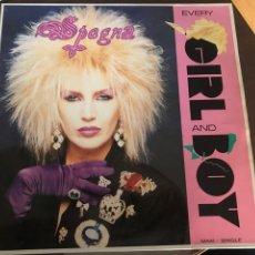 Discos de vinilo: SPAGNA MAXI SINGLE EVERY GIRL AND BOY 1988. Lote 244639365
