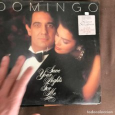 Discos de vinilo: PLÁCIDO DOMINGO - SAVE YOUR NIGHTS FOR ME - LP CBS HOLANDA 1985. Lote 244640425