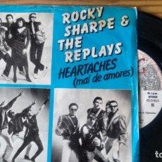 Discos de vinilo: SINGLE (VINILO) DE ROCKY SHARPE & THE REPLAYS AÑOS 80. Lote 244641135