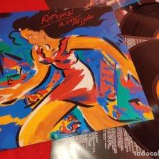 Discos de vinilo: RAMONCIN AL LIMITE VIVO Y SALVAJE LIVE DIRECTO 2LP 1990 RCA GATEFOLD EXCELENTE ESTADO. Lote 244641265