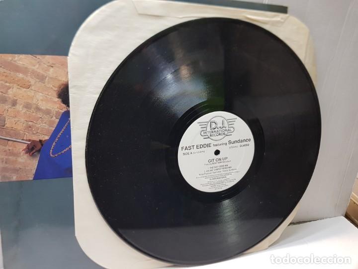 Discos de vinilo: MAXI SINGLE 33 1/3 -FAST EDDIE-GIT ON UP- en funda original 1989 - Foto 4 - 244642050