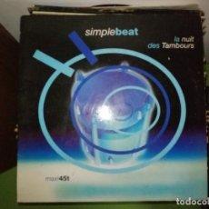 Discos de vinilo: DISCO SIMPLE BEAT - LA NUIT DES TAMBOURS. MAXI 45T. Lote 244643245