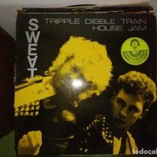 Discos de vinilo: DISCO SWEAT - TRIPPLE DIBBLE TRAIN HOUSE JAM. Lote 244643430