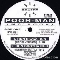 Discos de vinilo: POOH-MAN – RUN NIGGA RUN. Lote 244643925