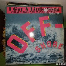 "Discos de vinilo: DISCO OFF-SHORE. I GOT A LITTLE SONG (THAT MAKES YOU WANNA JUSTLE) 12"" MAXISINGLE 45 RPM. Lote 244644210"