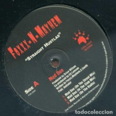 Discos de vinilo: FOXXX-N-MAYHEM – STRAIGHT HUSTLA'S & MAD DOE. Lote 244644365