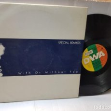 Discos de vinilo: DOBLE DISCO 33 EPS -DOBLE YOU-WITH OR WITHOUT YOU- EN FUNDA ORIGINAL 1993. Lote 244647335