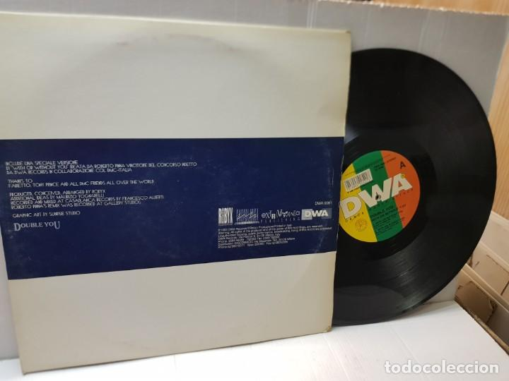 Discos de vinilo: DOBLE MAXI SINGLE -DOBLE YOU-WITH OR WITHOUT YOU- en funda original 1993 - Foto 2 - 244647335
