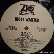 Discos de vinilo: MOST WANTED ‎– SUCKAS. Lote 244649420
