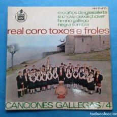 Discos de vinilo: REAL CORO ´TOXOS E FROLES´. ´CANCIONES GALLEGAS´, 4.. Lote 244649975