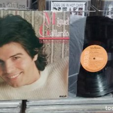 Discos de vinil: LMV - MIGUEL GALLARDO. TU AMANTE O TU ENEMIGO. RCA 1984, REF. PL-35437 - LP. Lote 244651040