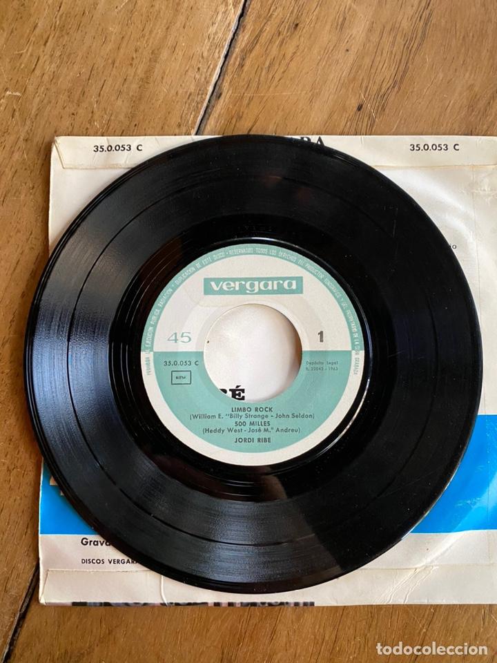 Discos de vinilo: Single EP Jordi Ribé //1963// Com tu no hi ha ningú,500milles,Renata y Limbo Rock - Foto 3 - 244653940