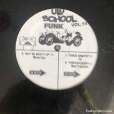 Discos de vinilo: VV.AA. - OLD SCHOOL FUNK VOL. 14 - 12'' MAXISINGLE NUEVO - MARVIN GAYE, GQ, MASS PRODUCTION. Lote 244654070
