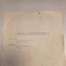 Discos de vinilo: TRIO GUADALAJARA -AMANECER GUAJIRO - EN LA CALLE- UN VIIEJO AMOR- SOY - EP PROMO 1965. Lote 244665235