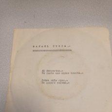 Discos de vinilo: EP 1964 -RAFAEL TURIA: YO QUIERO VOLVER / AL DESPERTAR / POBRE NIÑA RICA / ME GUSTA UNA CHICA BONITA. Lote 244666295