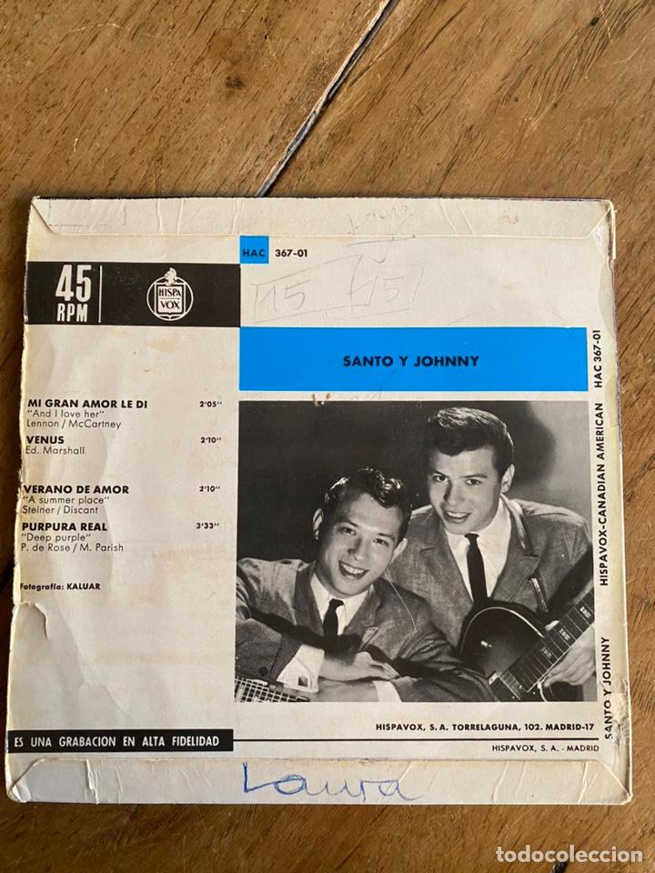 Discos de vinilo: Single EP Santo y Johnny // 1966 - Foto 2 - 244668240