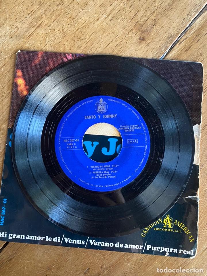 Discos de vinilo: Single EP Santo y Johnny // 1966 - Foto 3 - 244668240